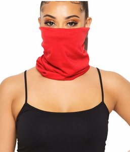 Solid Color Tubular Face Mask Anti-Dust