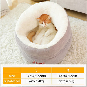 HOOPET Pet Cat Dog Bed Warming Dog House Soft Material Sleeping Bag Pet Cushion Puppy Kennel