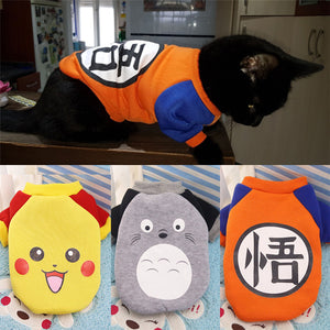 Cat costume Coat Jacket Winter Warm Pet Clothes For Cats and Puppies