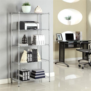 4/5Layer Wire Rack Metal Shelf Shelving Adjustable Unit Garage Kitchen Storage Rectangle Carbon Steel Metal Storage Rack US