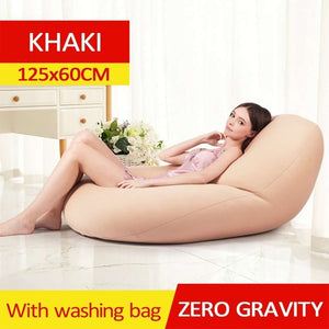 Waterproof Lazy BeanBag Sofas Linen Cloth