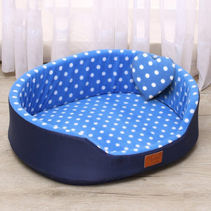dog bed House sofa Kennel Soft Fleece Pet Dog Cat Warm Dot Pattern Top Quality dog beds mats cama para cachorro Bed For Cats