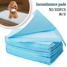 Load image into Gallery viewer, 50/100pcs Dog Training Pee Pads Super Absorbent Pet Diaper  Disposable Healthy Clean Nappy Mat for Pets Dairy Diaper Supplies
