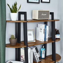 Load image into Gallery viewer, Bookshelf with 4 Tiers Corner Shelf Shelves and Storage Industrial Bookcase