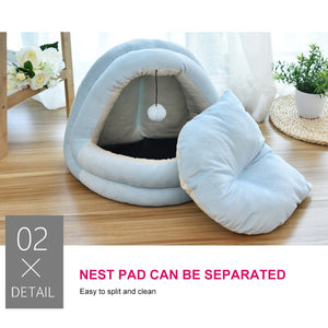 Warm Soft Sleeping Bed Cushion Pads For Cats Dogs Non-slip Breathable