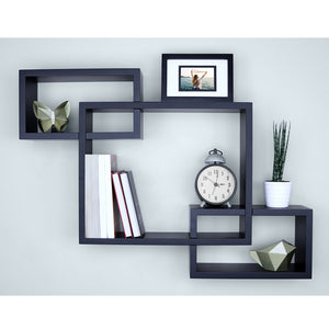 3 Cubes Intersecting Boxes Wall Shelf Home Decor Storage Wall Mount Shelves TB Sale