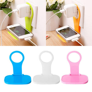 Foldable Mobile Holder Folding Cell Phone Holder Wall Charger Hanger Charging Rack Shelf Mobile Phone Charging Holder