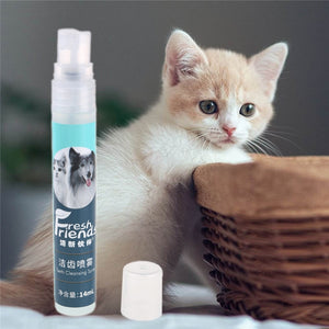 14ml Pet Tooth Cleaning Breath Freshener Dog Puppy Cat Healthy Dental Care Fresh Breath Spray Cleaner Dog Supplies