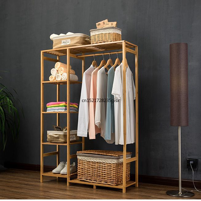 modern Wardrobe Multifunction Storage Rack Orgnizer Floor shoe rack Large Capacity Clothing Hanger Coat Home Furniture