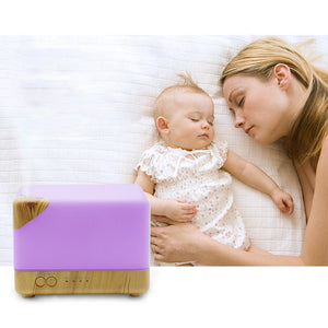 Square Aromatherapy Essential Oil Humidifier Large Volume Modern Ultrasonic Aroma Diffusers Running 20 + Hours for Home Baby Bed