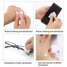 Load image into Gallery viewer, 20pcs 2020 Alcohol Wet Wipes Personal Disinfection Portable Alcohol Swabs Pads Wipes Antiseptic Cleanser Cleaning Sterilization