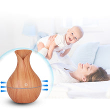 Load image into Gallery viewer, Air Freshener Mini Humidifier for Home Office Aroma Essential Oil Diffuser Air Purifier Wooden USB Ultrasonic Mist Maker