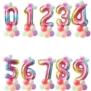 Miss Celebrate 1 Rainbow Number Balloon