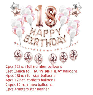 miss-celebrate 18th Birthday Balloon Set