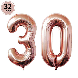 miss-celebrate 30th Birthday Balloons Set