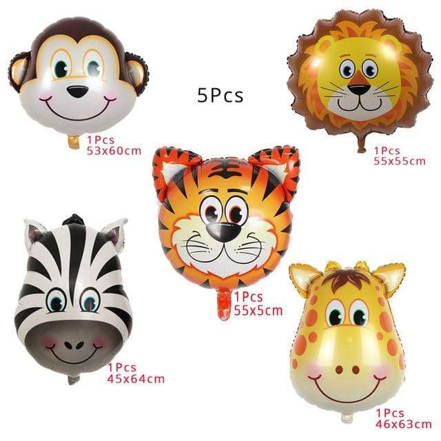 Miss Celebrate 5 Piece Jungle Balloons