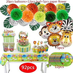 Miss Celebrate 92 piece Jungle Party Set