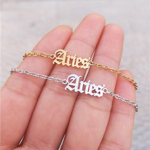 miss-celebrate Aries / Gold / United States Zodiac Ankle Bracelet