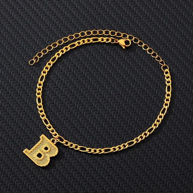 miss-celebrate Gold Initial Anklets