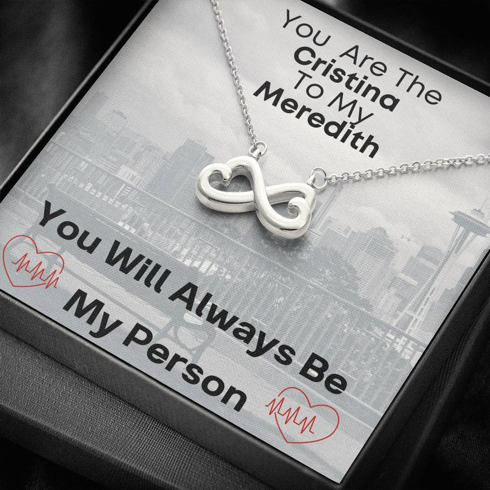 miss-celebrate Jewelry 14k White Gold Finish Infinity Heart - My Person