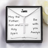 miss-celebrate Jewelry Artisan Cross Necklace - Be With You Always