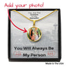 miss-celebrate Jewelry Luxury Necklace (18k Yellow Gold Finish) / No Personalized Picture Necklace - My Person