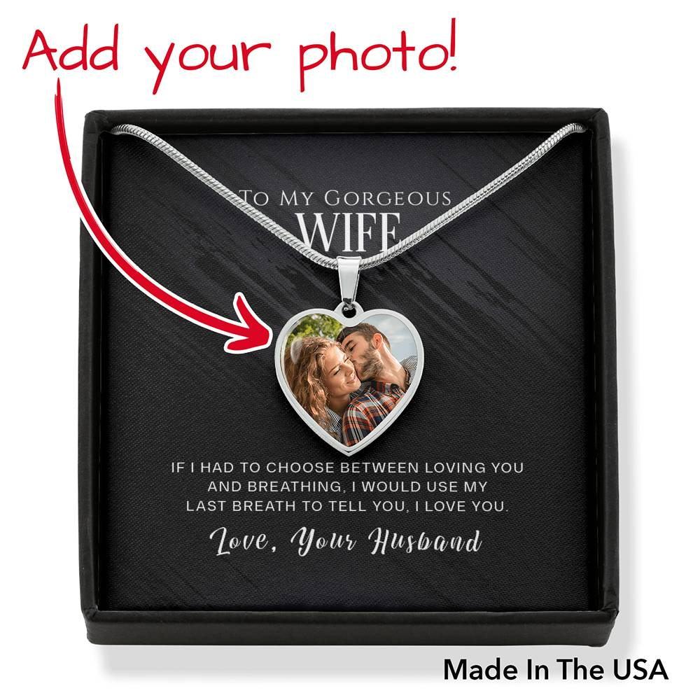 "miss-celebrate Jewelry Luxury Necklace (.316 Surgical Steel) / No ""Last Breath"" Personalized Heart Necklace"
