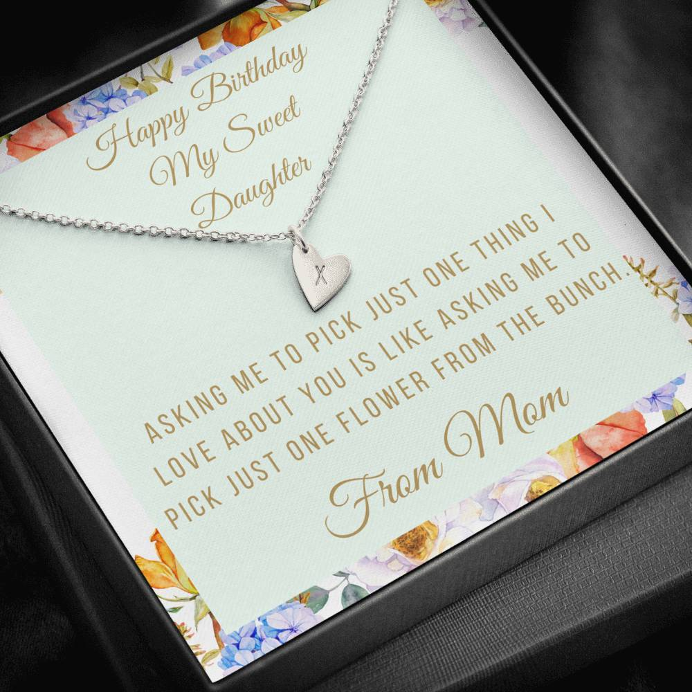 miss-celebrate Jewelry Sterling Silver - 1 Heart Sweetest Hearts Necklace - Daughter's Birthday