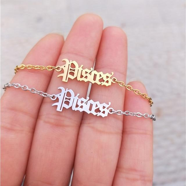 miss-celebrate Pisces / Gold / United States Zodiac Ankle Bracelet