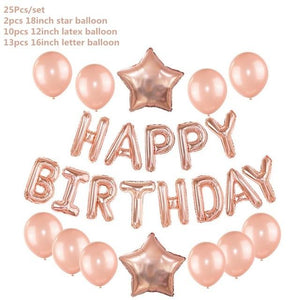 Miss Celebrate Small Set Rose Gold Happy Birthday Balloon Set
