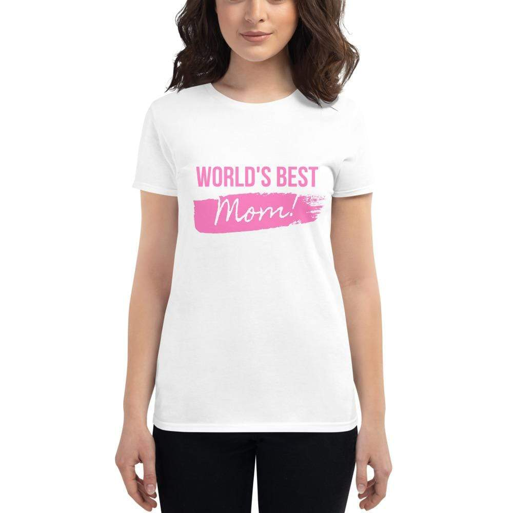 Miss Celebrate White / S World's Best Mom T-shirt