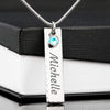 ShineOn Fulfillment Jewelry Custom Necklace Birthstone Name Necklace