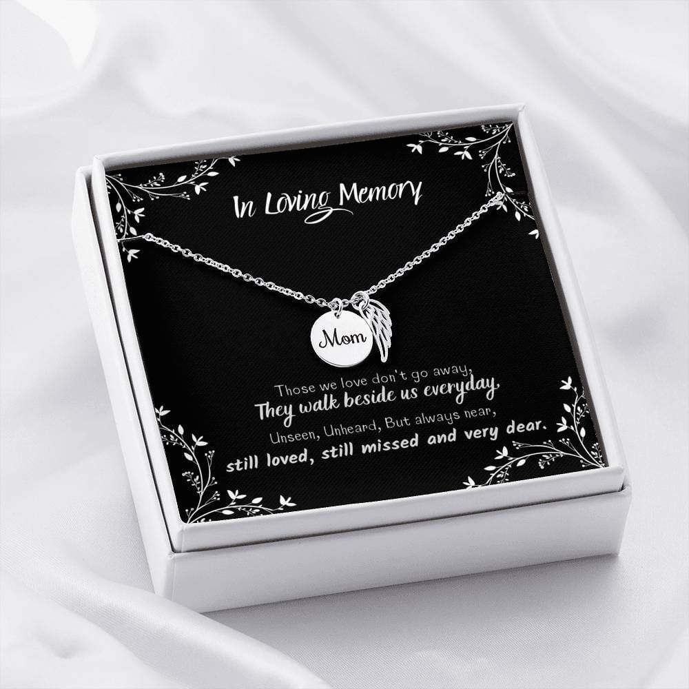 ShineOn Fulfillment Jewelry Premium Stainless Steel Mom Remembrance Necklace w/ In Loving Memory Card