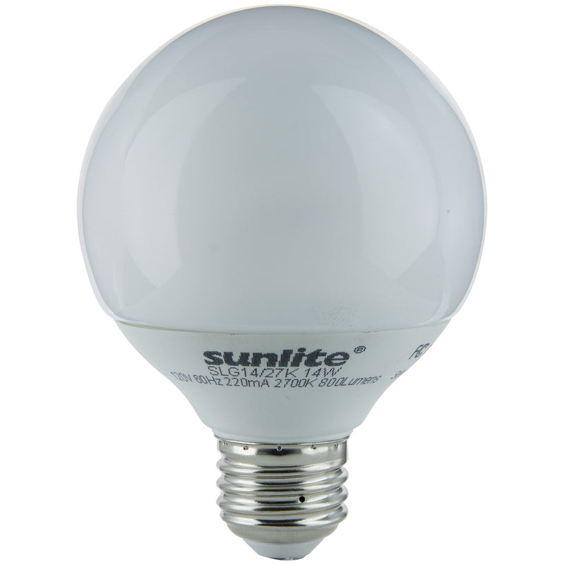Sunlite 14W Globe, Medium Base, Warm White, 12/Case - 05340-SU