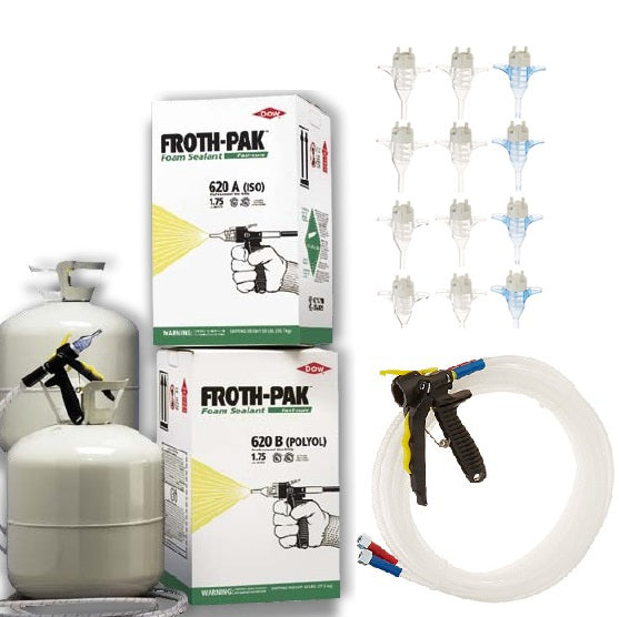 Dow Froth Pak 620 Sealant Spray Foam Kit with 15' Gun Hose Assembly