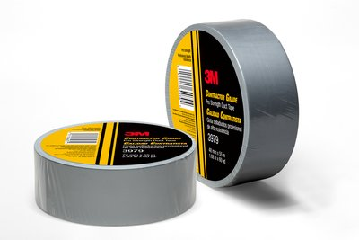 3M Contractor Grade Pro Strength Duct Tape, Silver (Case/24) - 3979