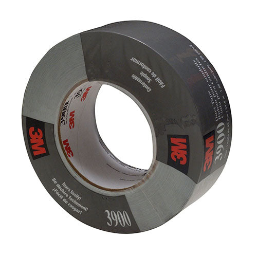 3M Duct Tape Silver, 48 mm x 54.8 m 7.7 Mil (Case of 24) - 3900