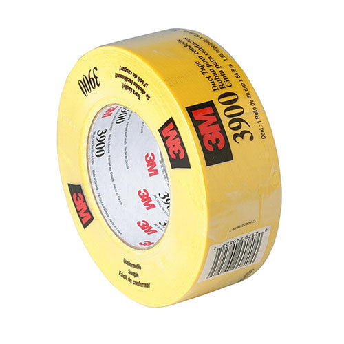 3M Duct Tape Yellow, 48 mm x 54.8 m 7.7 Mil (Case of 24) - 3900
