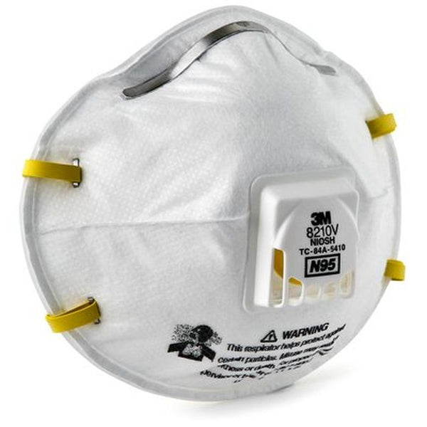 3M 8210V N95 Respirator with Valve 2 Straps (Pack of 10)