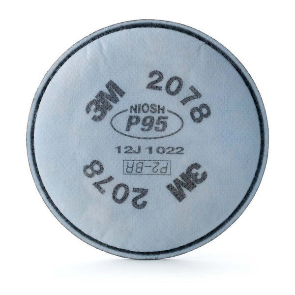 3M 2078 Particulate Filter P95 w/ Nuisance Level Organic Vapor/Acid Gas Relief, Pair
