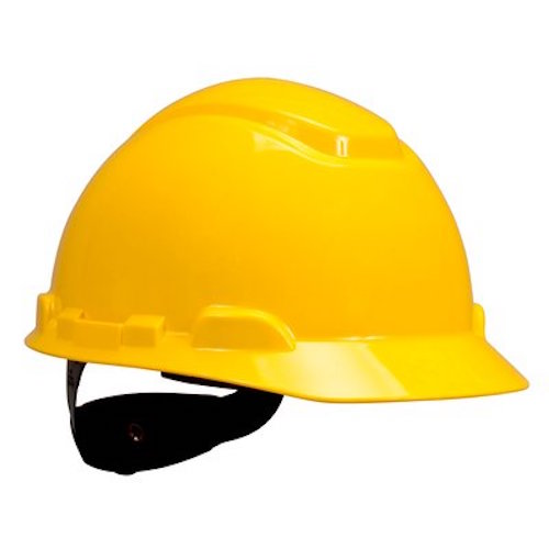 3M Hard Hat, Yellow 4-Point Pinlock Suspension - H-702P