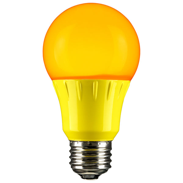 Sunlite LED A Type Colored 3W, Yellow - 80149-SU