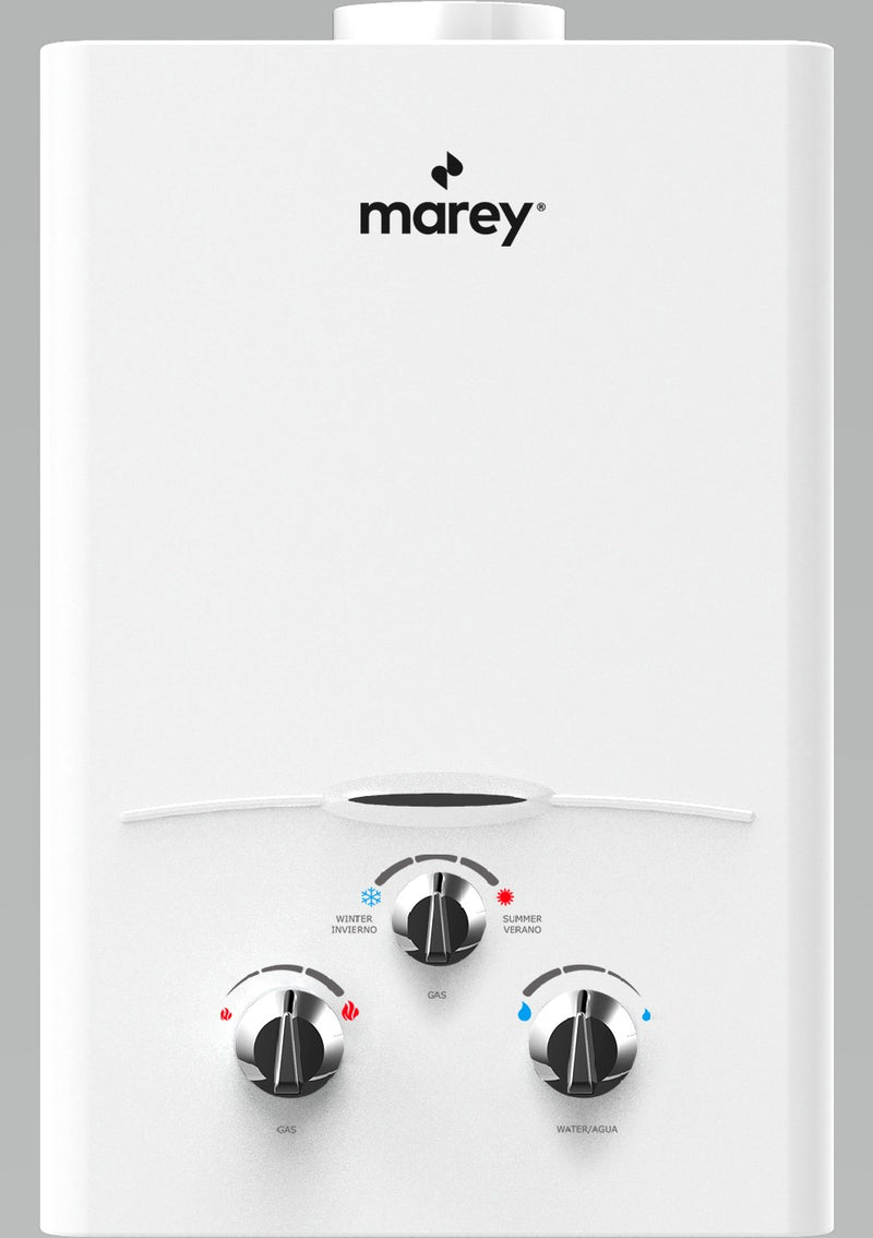 Marey GA10FNG 2.64 GPM, 68,240 BTU's NG Gas Flow activated Gas Tankless Water Heater