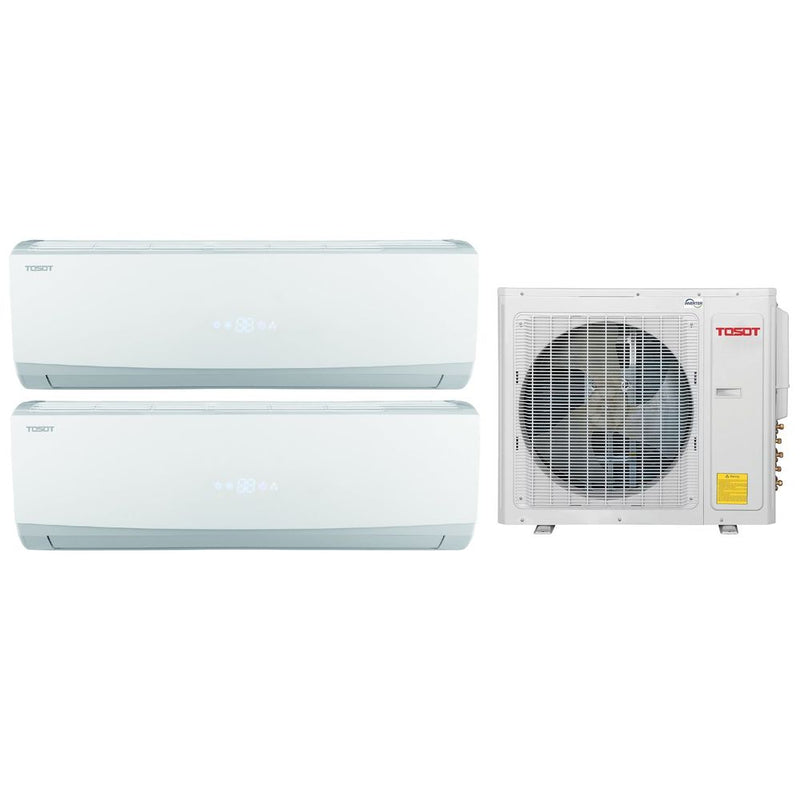 Tosot 24k BTU Ultra Heat Ductless Mini-Split Multi Zone System (12k, 12k) - 23 SEER 208/230V