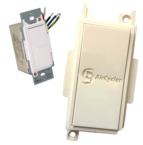AirCycler SED-S & SEDR-A SmartExhaust Rocker Switch & Cover (Almond)