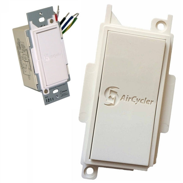 AirCycler SED-S & SEDR-I SmartExhaust Rocker Switch & Cover (Ivory)