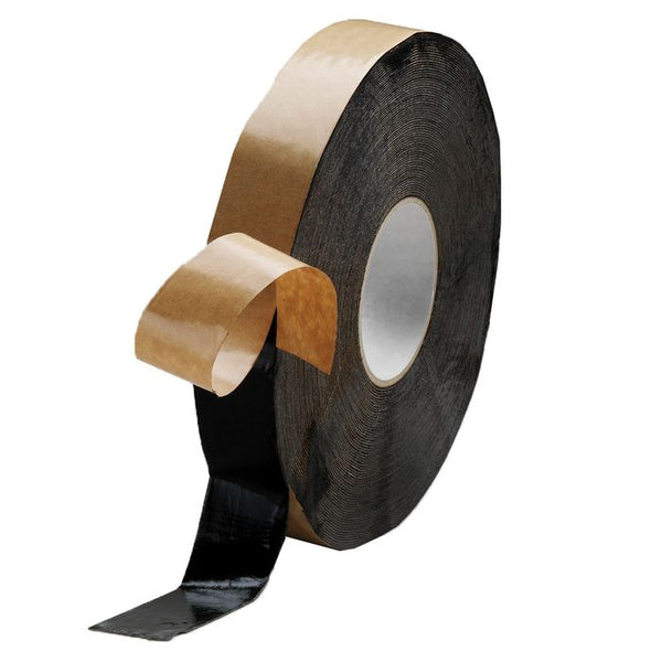 "Americover Butyl Tape Black Tape 2 Sided Fab, 1.5"" x 100"""