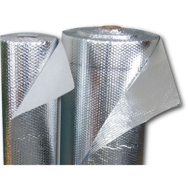 "AstroShield 24"" x 125' Tabbed Reflective Insulation, Double Bubble, 7 Staple Tabs"