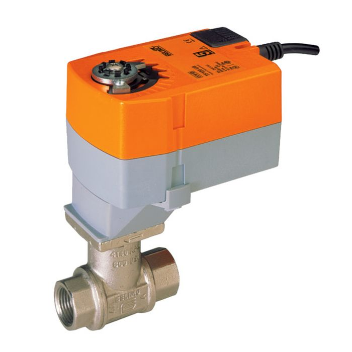 "Belimo B210B+TFRB24-3 Characterized Control Valve, 1/2"", 2-Way, Cv 1.2, w/ Valve Actuator, Spring Return, AC/DC 24 V, Floating Point"