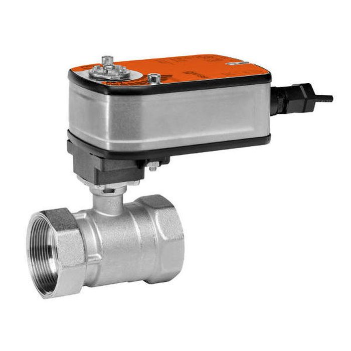 "Belimo B218+LF24 US Characterized Control Valve (CCV), 3/4"", 2-Way, Cv 7.4, w/ Valve Actuator, Spring Return, AC/DC 24 V, On/Off"